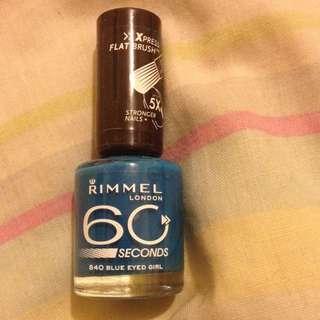 Rimmel Blue Nail Polish