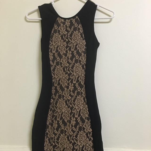 1 & 20 Blackbirds Lace Tube Dress