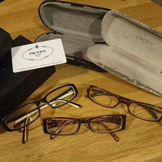 Authentic Prada DKNY Guess Spec Frames