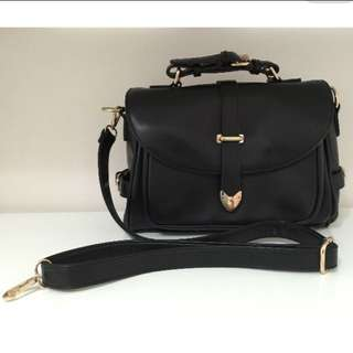 Jayne Satchel Black Handbag