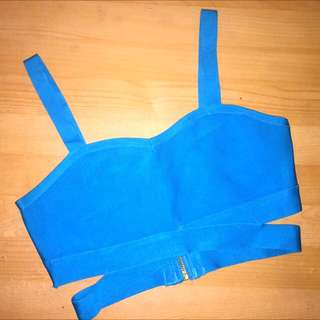 8$ mailed Bandage crop top in Blue