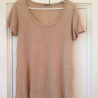 Country Road Beige Linen T-shirt