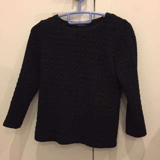 Zara Houndstooth Thick Top Size Small