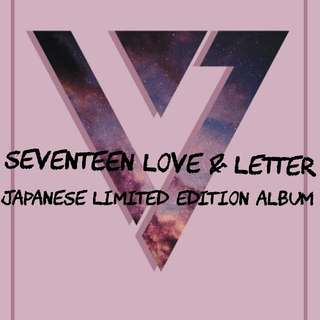 (JAP VER) (OOS ATM) SEVENTEEN LOVE & LETTER ALBUM