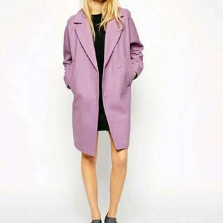 Lavender ASOS Winter Coat