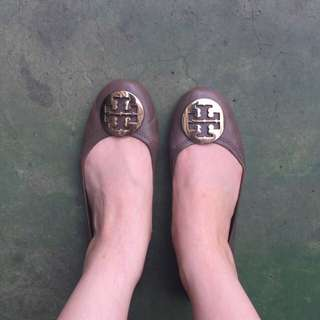 Tort Burch 真皮 經典芭蕾舞鞋 平底鞋 8號