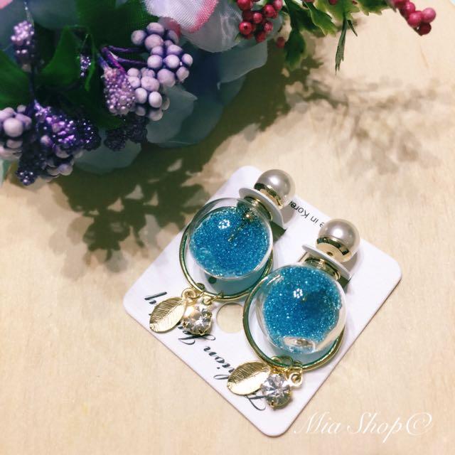 流沙大力丸耳環(藍)