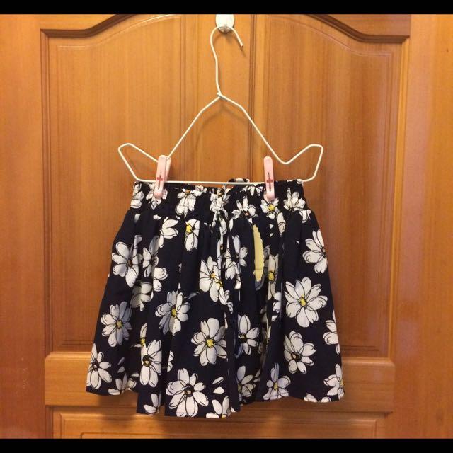 花花碎花鬆緊綁帶短裙短褲裙