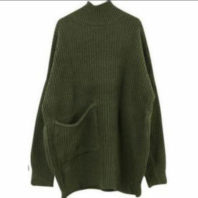 墨綠色針織毛衣