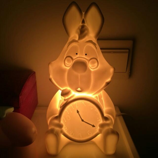 日本Afternoon Tea&time×迪士尼愛麗絲夢遊仙境 時間兔 陶瓷擺飾夜燈檯燈