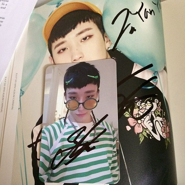 Autographed / Signed B.A.P CARNIVAL Album Jong Up Jongup Official Photocard