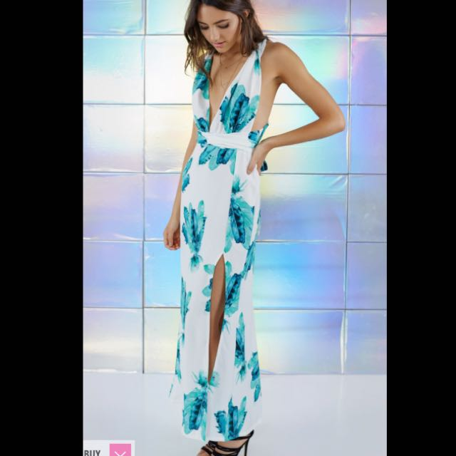 Beginning Boutique Floral Maxi dress (cross back)