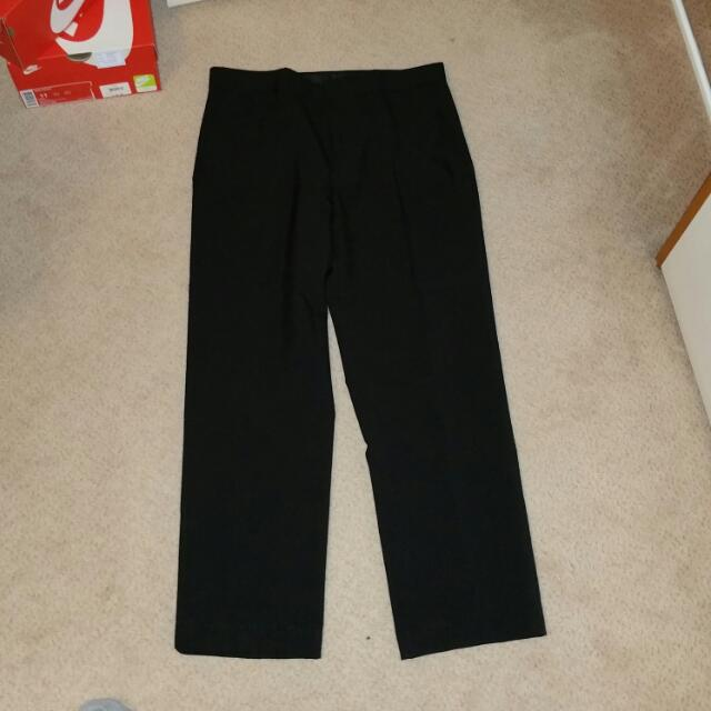 Black Business Work Pants Size32