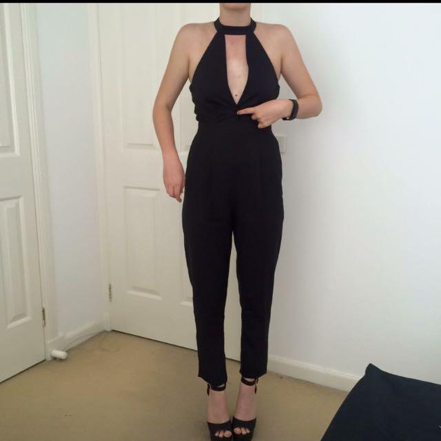 Black Misguided Jumpsuit
