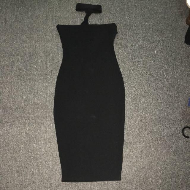 Boohoo Choker Midi Dress