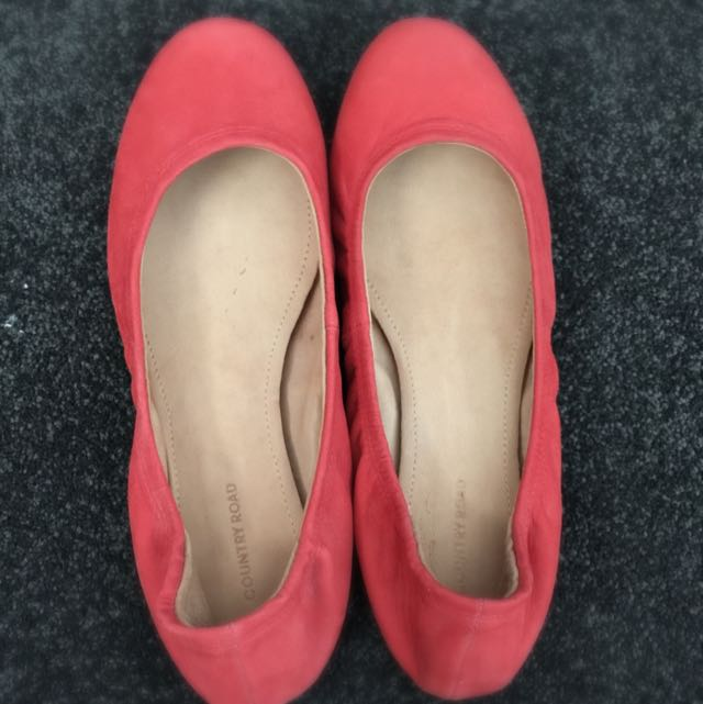 Country Road Leather Ballet Flats