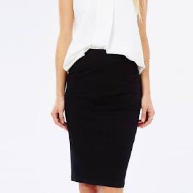 Curved Hem Tube Skirt