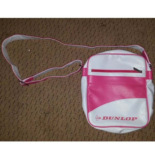 Dunlop Unisex Shoulder Bag White and Pink