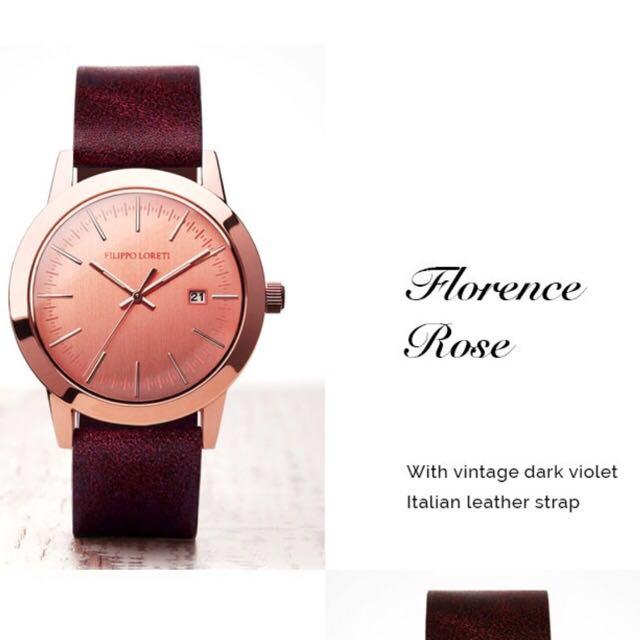 Filippo Loreti Italian Luxury Watch Florence Rose Gold Luxury on
