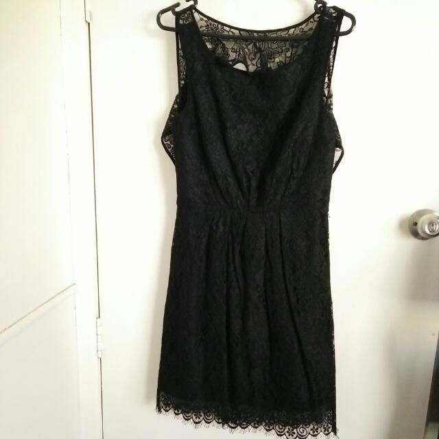 Forever New Lace Open Back Dress Sz 10