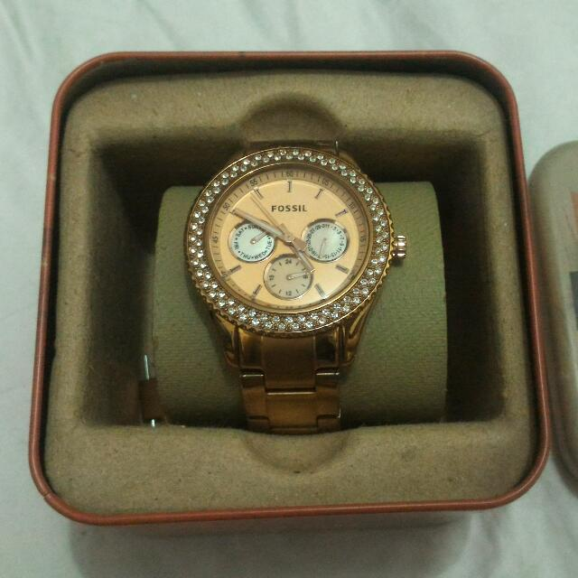 Fossil Stella Rosegold Ladies Watch