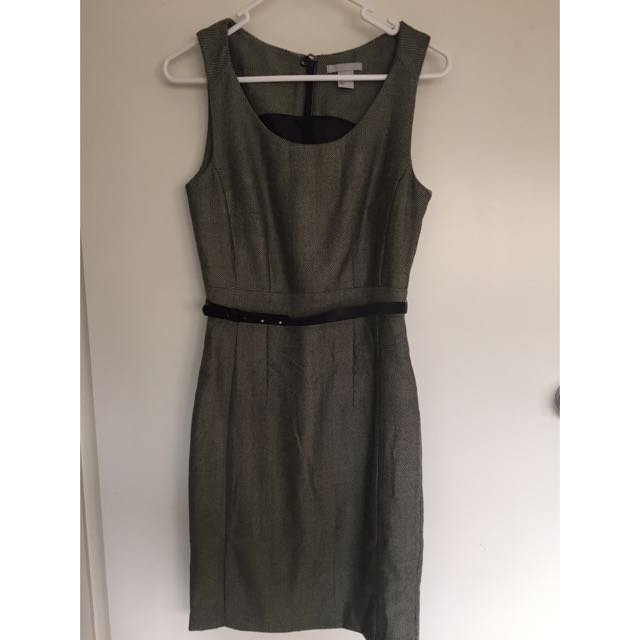 H&M Black & White Sleeveless Dress - Size 6