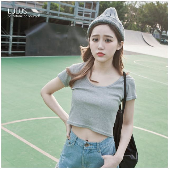 [INSTOCKS] GREY CROP TOP