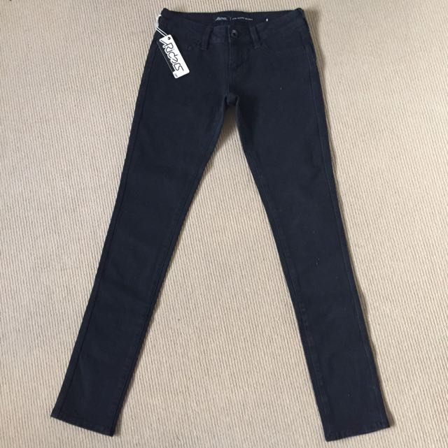 Lee Riders Low Super Skinny Black Jeans - Size 8