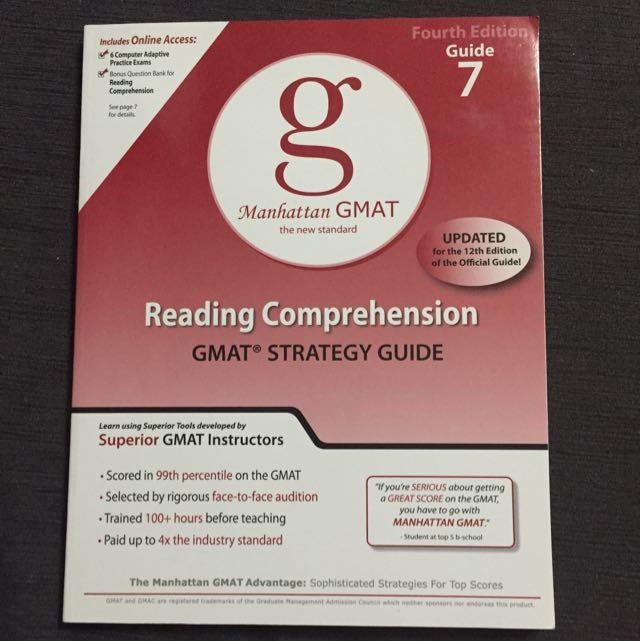 Manhattan GMat Reading Comprehension