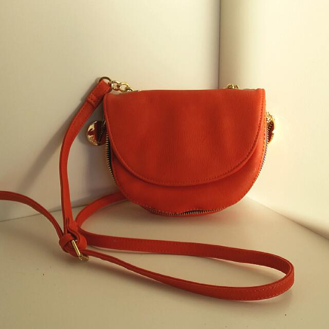 New Deux Lux Leather Orange Side Bag