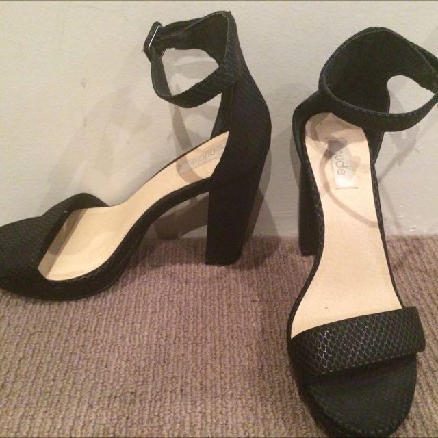 Nude Black Heels Size 38
