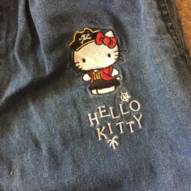 全新但已下水過的pazzo X Hello Kitty聯名款牛仔褲