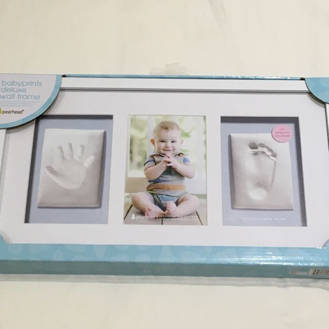 Pearhead Babyprints Deluxe Wall Frame Triple Frame White Babies
