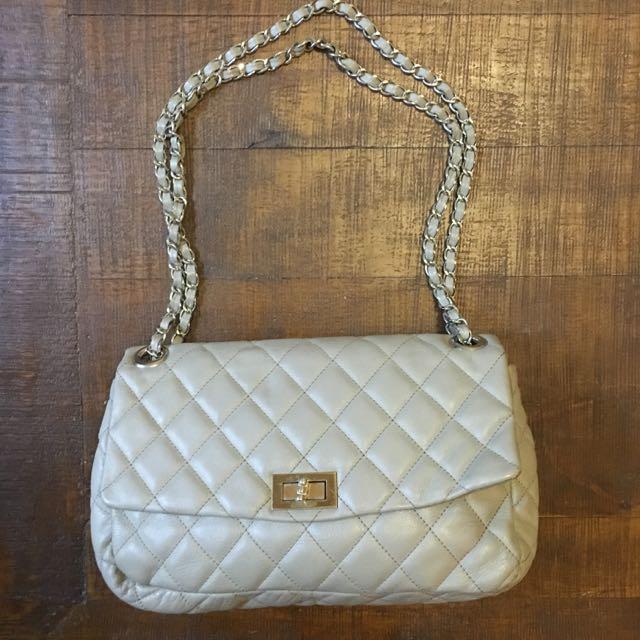 Peeptoe Quilted Handbag