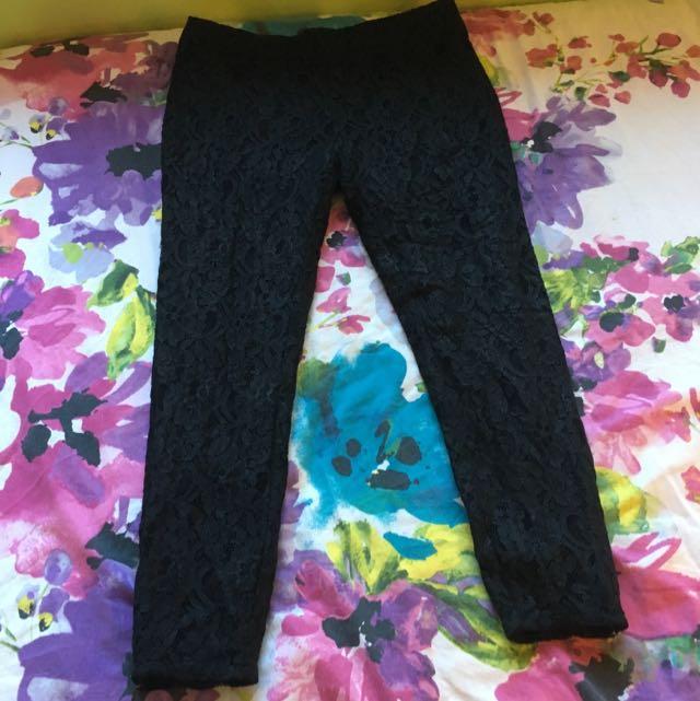 Portmans Skinny Leg Lace Work Pants