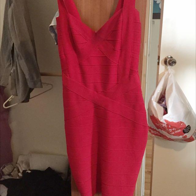 Red dish Bandage Dress
