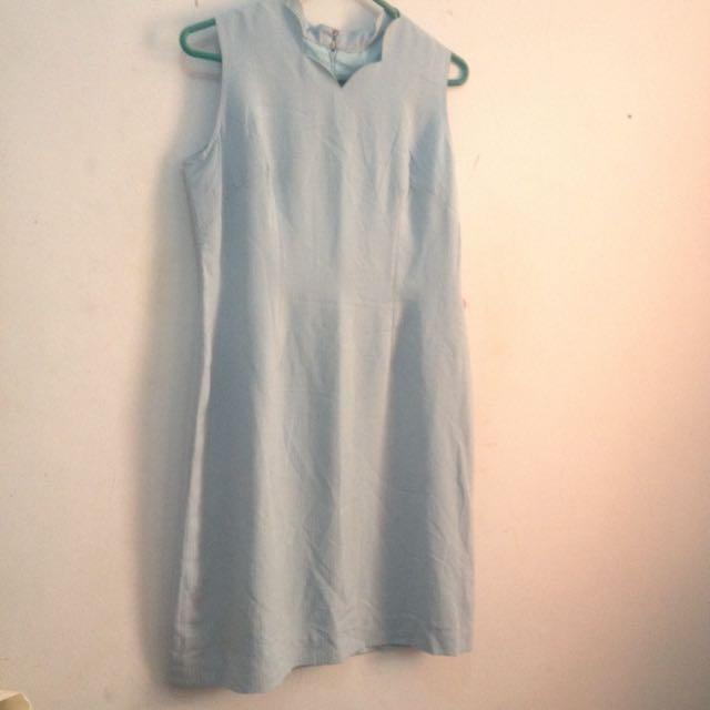 Scallop Baby Blue Dress