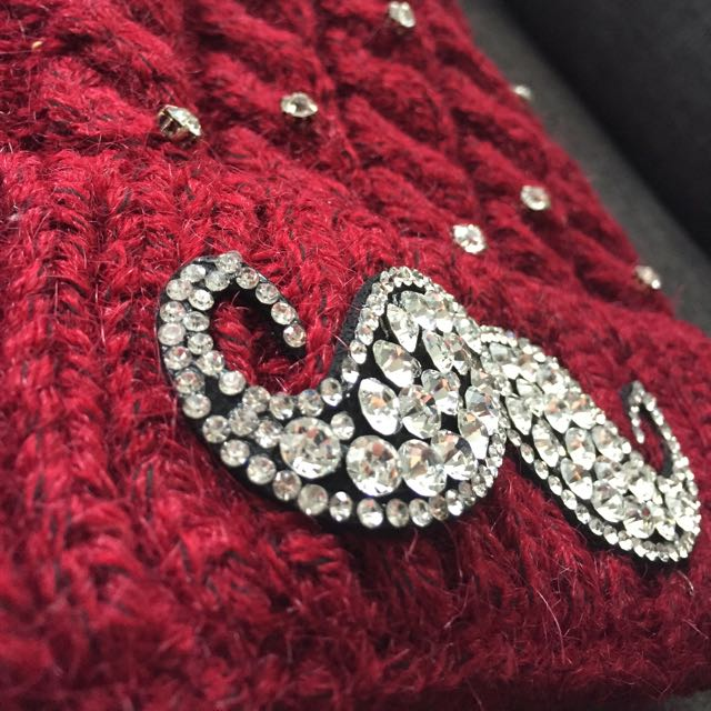 Sparkle Moustache Warm Winter Hat