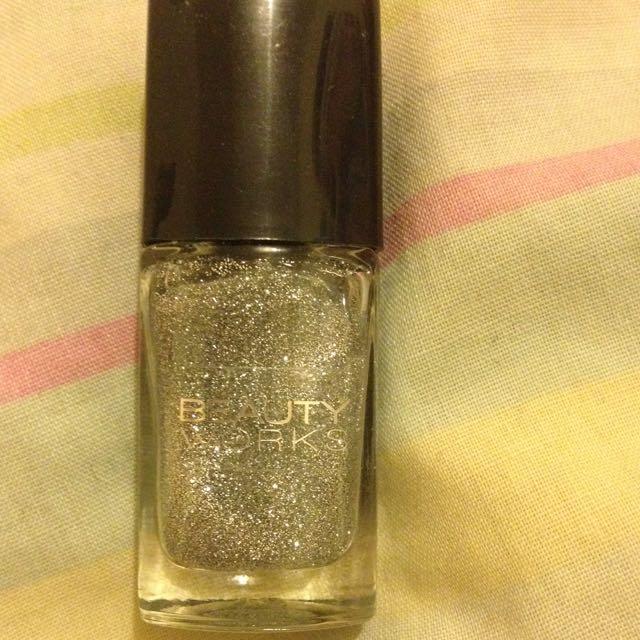 Sparkly Silver Nail Polish