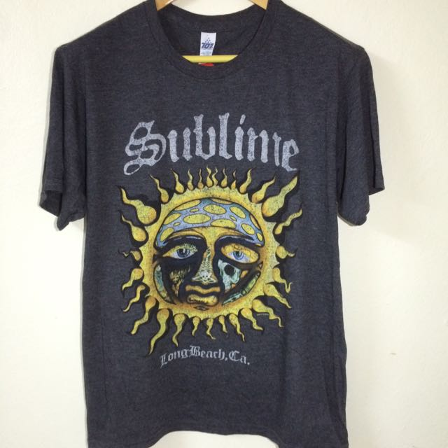 1e568d2b3 [Sale]Sublime - Logo Stamp Sun Band T Shirt #OCT10, Men's Fashion, Clothes,  Tops on Carousell