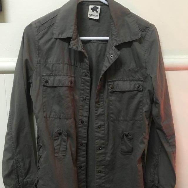 Subtitled Khaki Jacket
