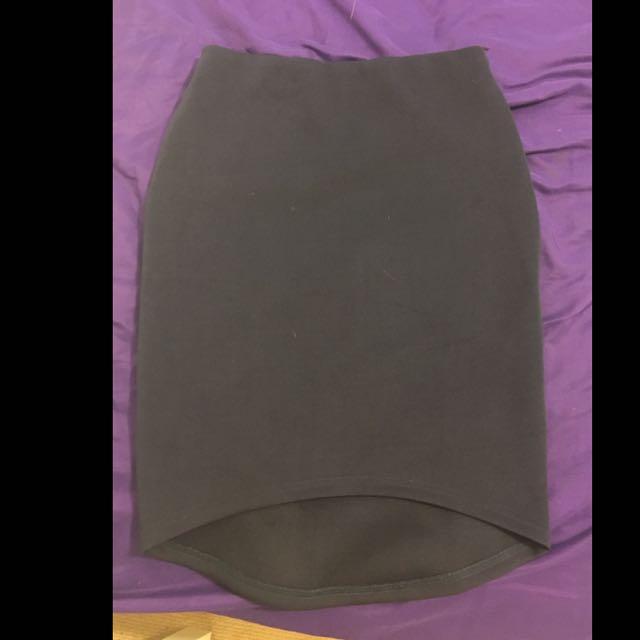Tempt Tight Navy Midi Skirt