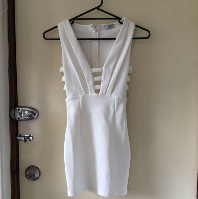 Tobi White Party Dress
