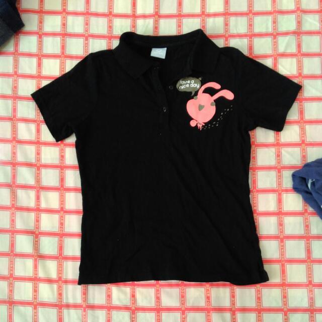 Top girl 黑色Polo衫