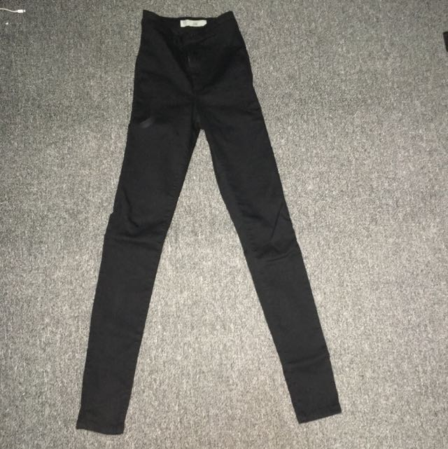 Top Shop Black High-wasted Jeans