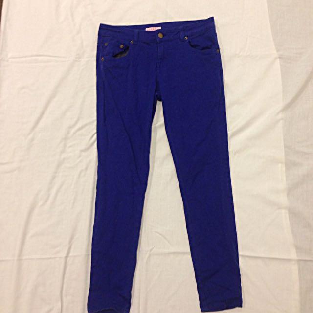 Ultramarine-blue Supre M Pants