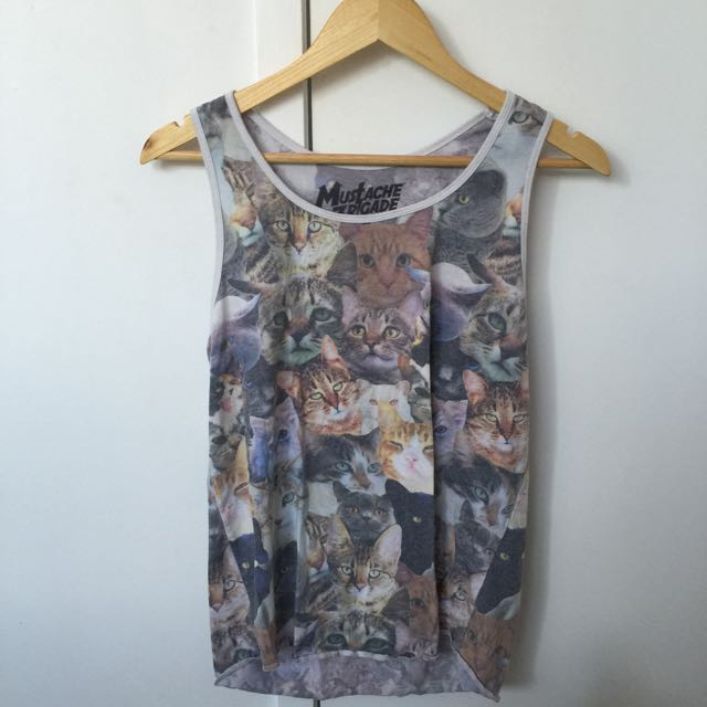 Urban Outfitters Cat Singlet! Size S (men's)