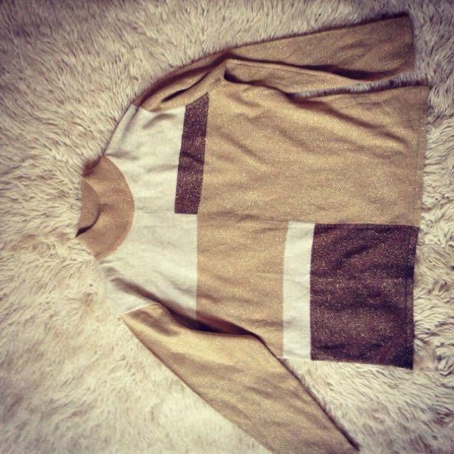 Vintage Glitter Sweater Sz S
