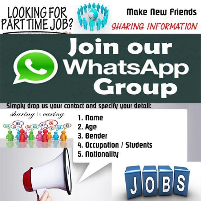 WhatsApp Group for job/business partnership/sharing