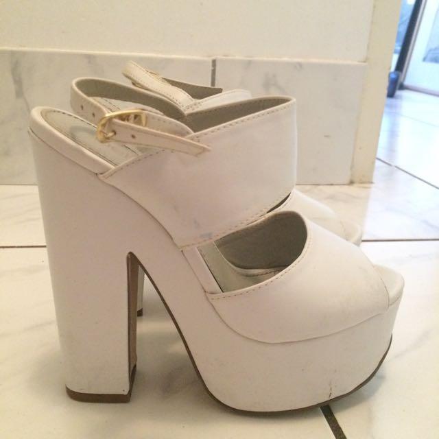 White Betts Heels